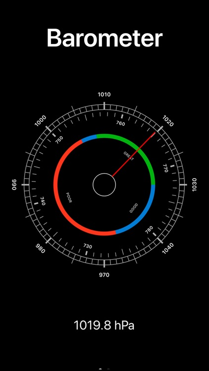 Altura: Barometric pressure screenshot-0