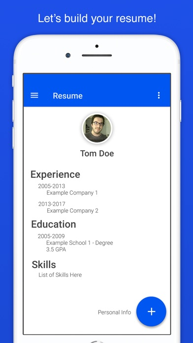 Resume Builder For Indeed App Mobile Apps - Mobile-resume-builder