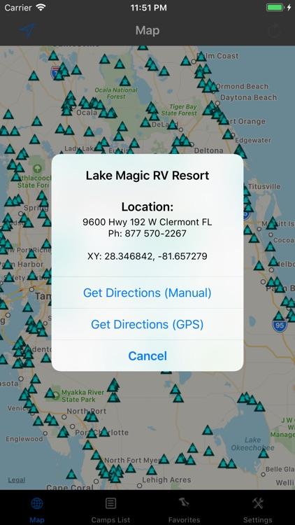 Florida – Camping & RV spots