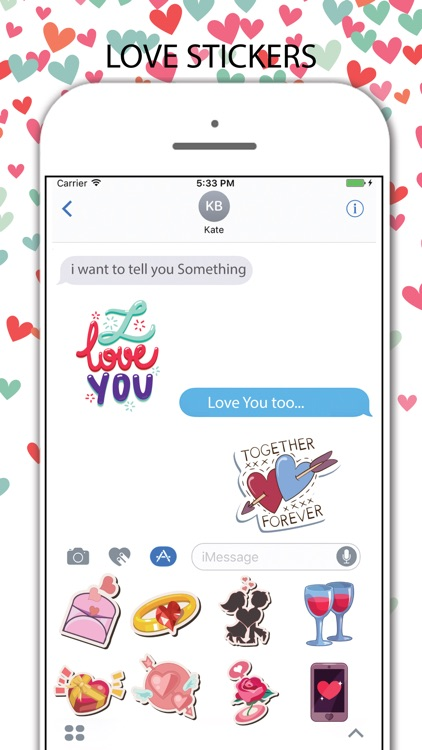 Love Stickers Pack for iMessage screenshot-3