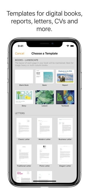 pages on the app store