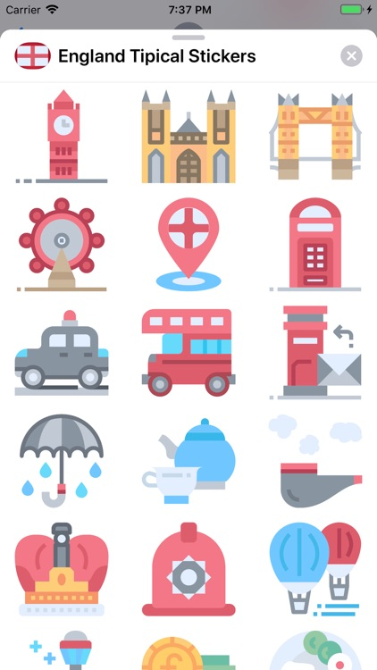 England Tipical Stickers