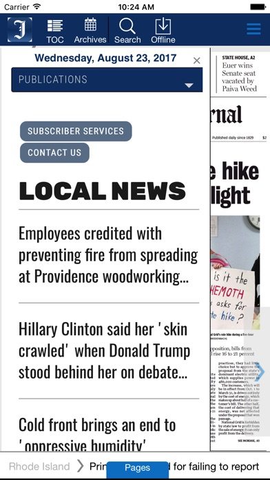 Providence Journal Eedition review screenshots