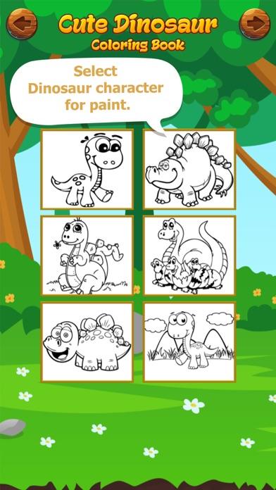 Cute Dinosaur Coloring Book screenshot