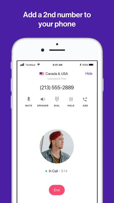 TextNow: Call + Text Unlimited app image
