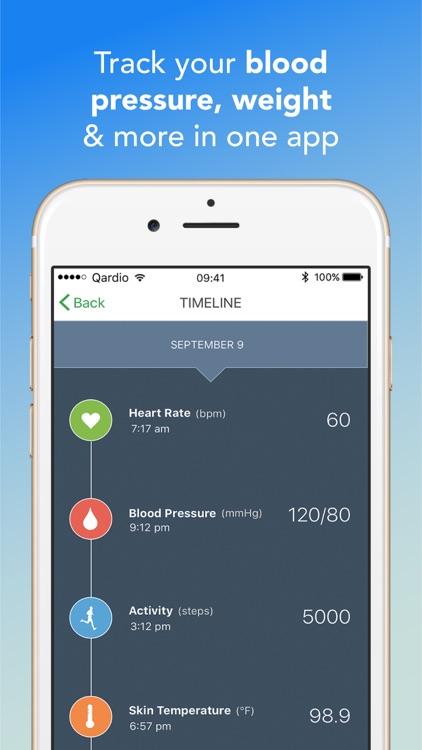 Qardio Blood Pressure, Weight and ECG/EKG Tracker screenshot-3
