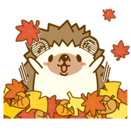 Hedgehog In Autumn Sticker