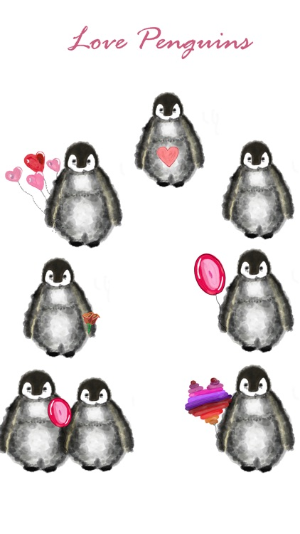 Love Penguin Stickers