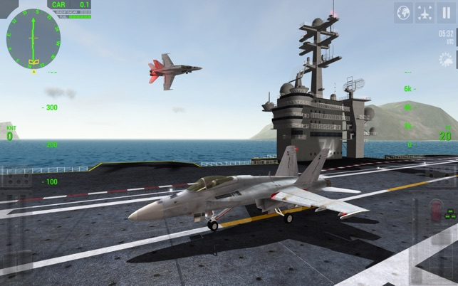 Excellent F18 landing simulator game