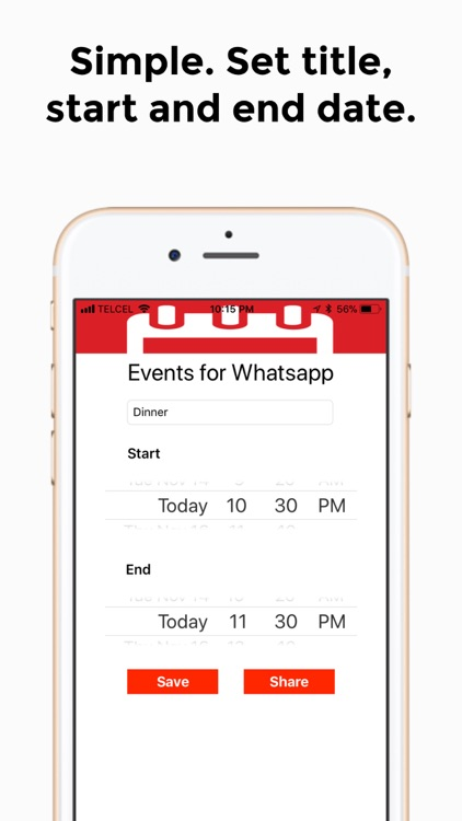 Events for Whatsapp