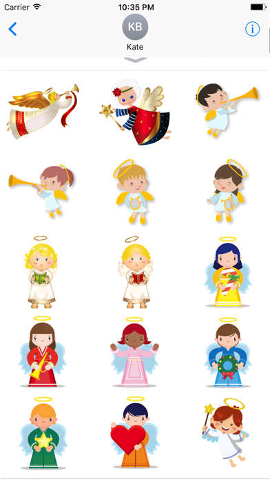 Xmas Angels Emoji & Stickers screenshot two