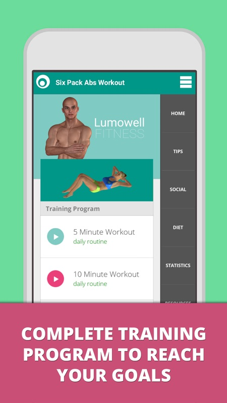 The Six Pack Workout App Offers A Complete Program For Men And Women To Get Great Abs Lose Belly Fat As Fast Possible Best Abdominal Exercises You