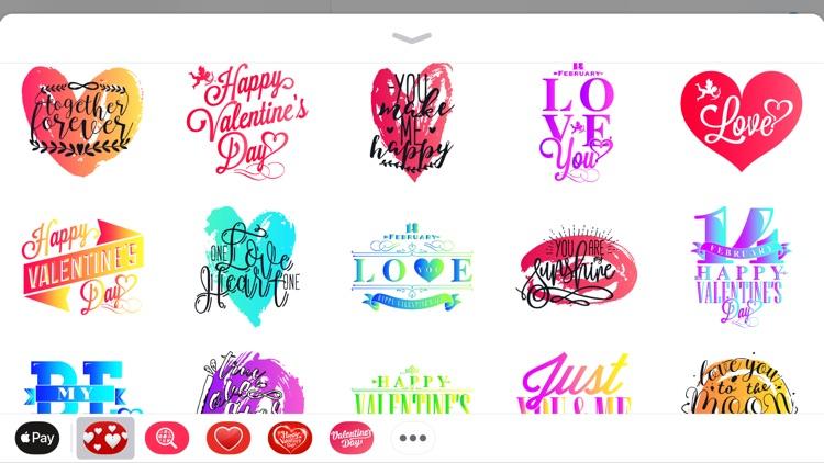 Vlaentine's Day Love Stickers