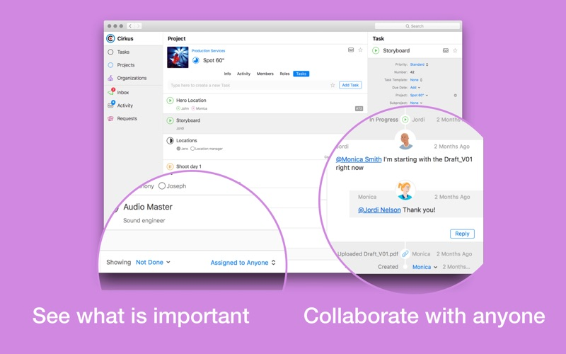 Cirkus: Team Task Management for Mac