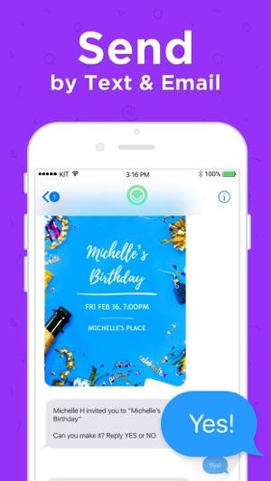 Hobnob invitations text rsvp on the app store stopboris Choice Image