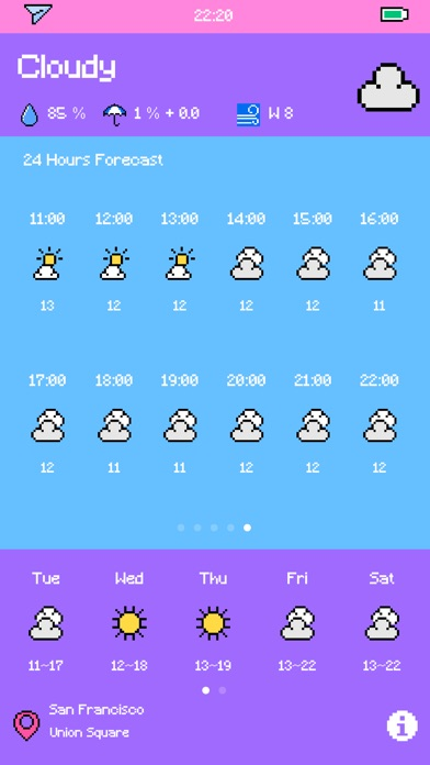 Pixel Weather - Forecast Screenshot 9