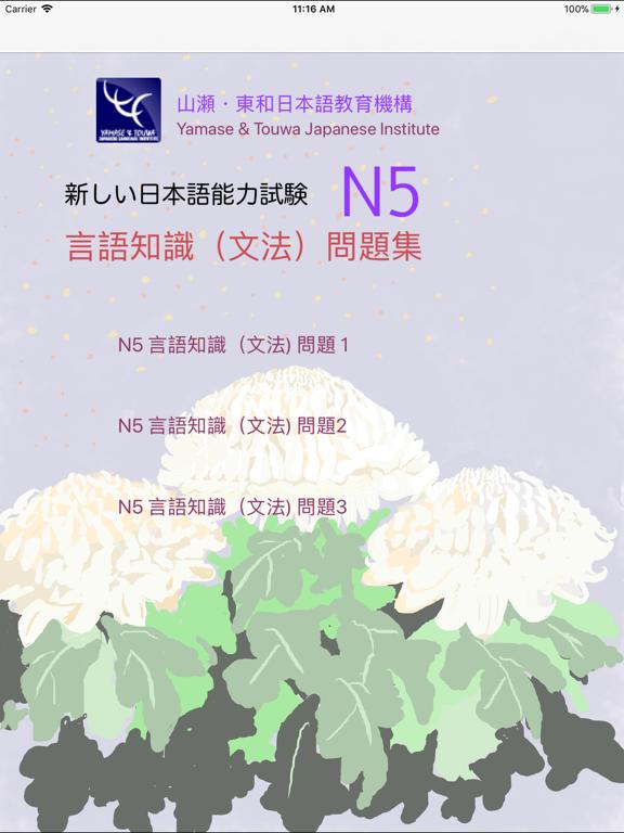 新しい「日本語能力試験」N5文法問題集 screenshot 8