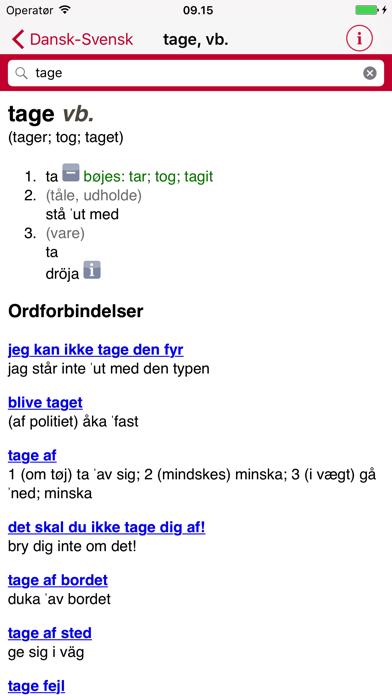 Swedish Danish Dictionary - Gyldendalのおすすめ画像3