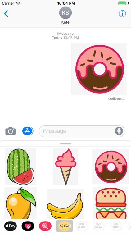 say food sticker screenshot-3