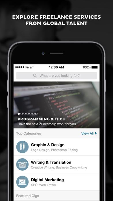 Screenshot 0 for Fiverr's iPhone app'