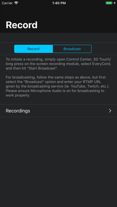 EveryCord – Record & Broadcast app image