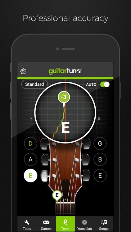 guitartuna guitar bass tuner by yousician ltd. Black Bedroom Furniture Sets. Home Design Ideas