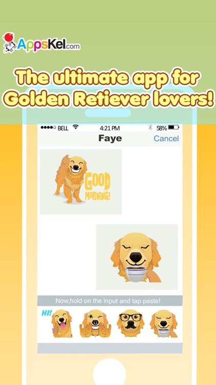 Golden Retriever Emoji Pro screenshot-1