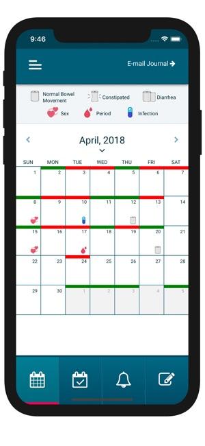 UTI Tracker Screenshot