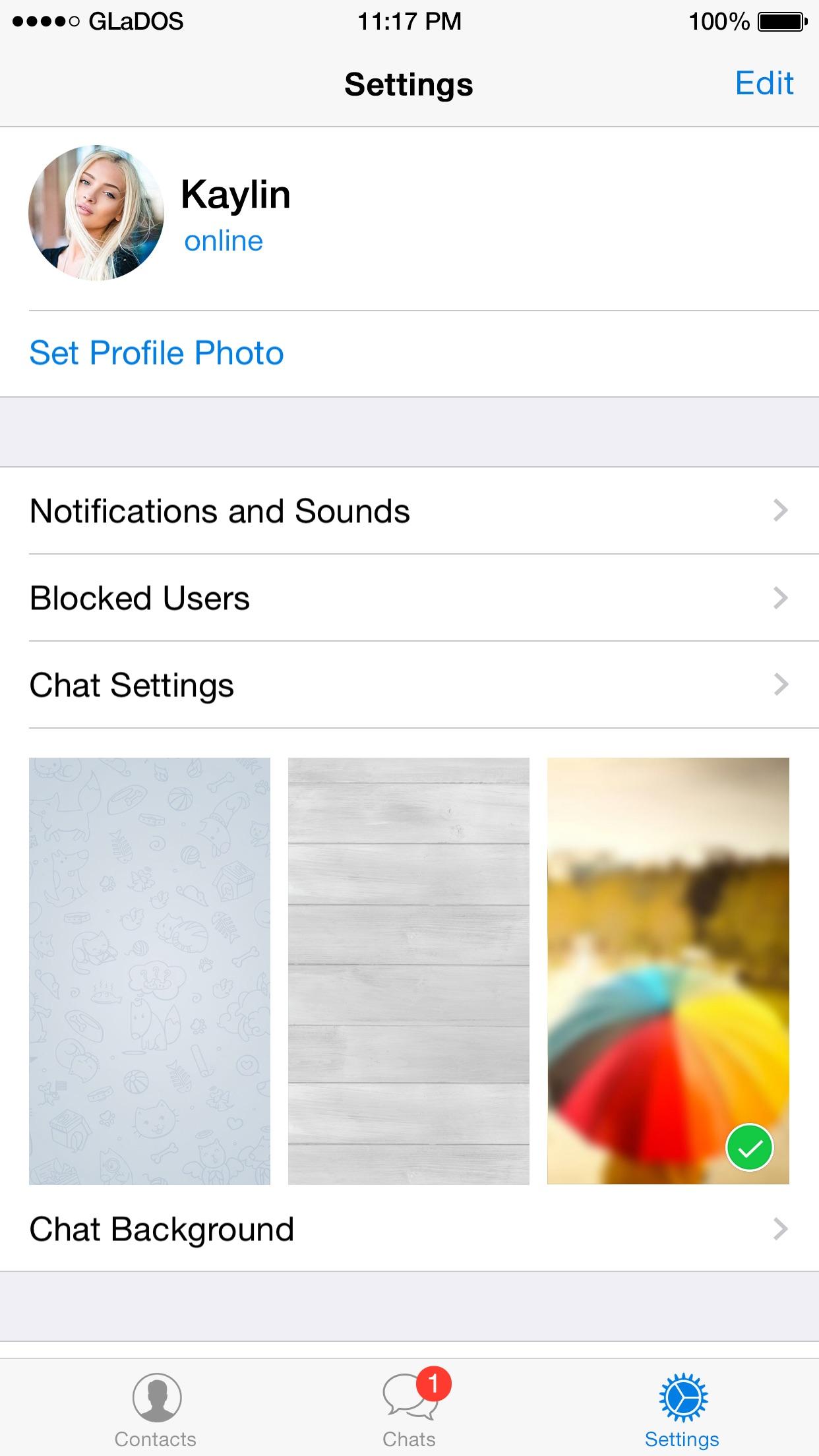 Screenshot do app Telegram Messenger