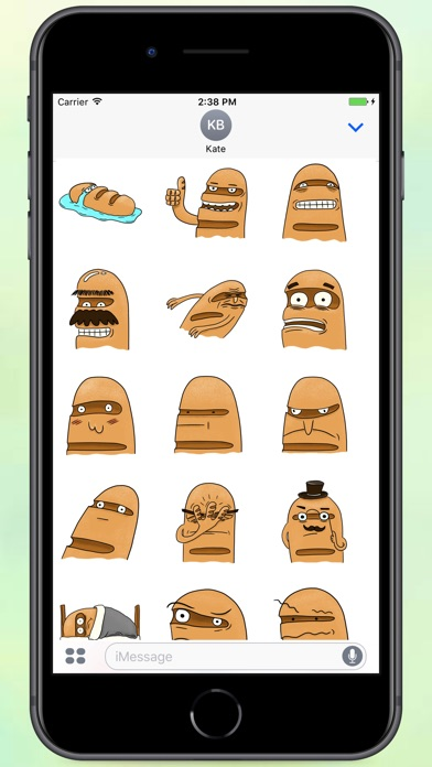 Screenshot for Crazy Bread Stickers in Colombia App Store