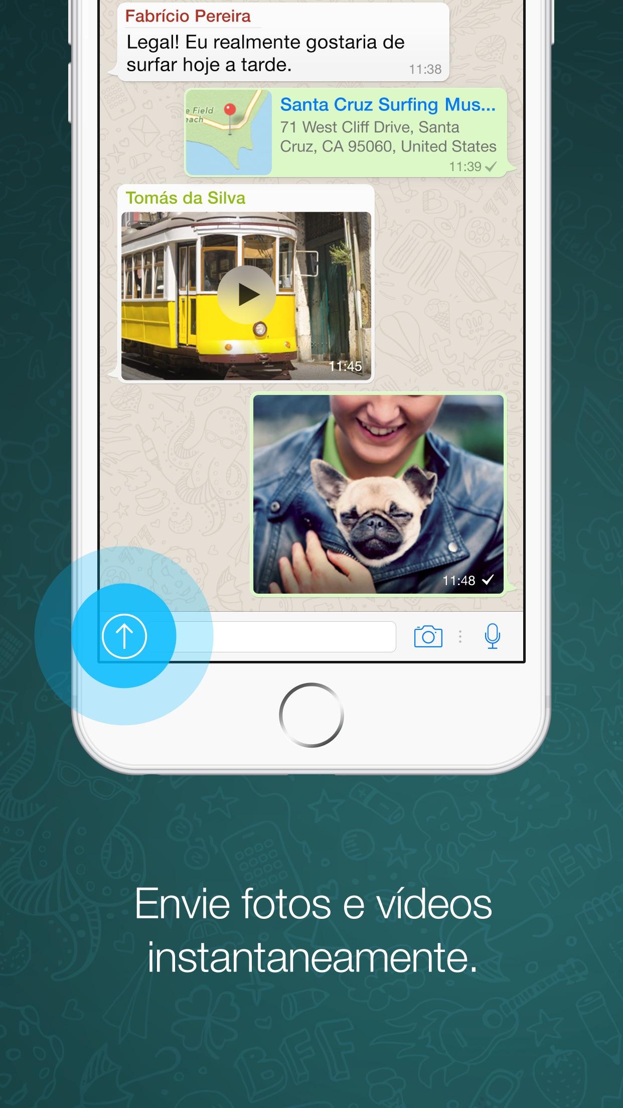 Screenshot do app WhatsApp Messenger