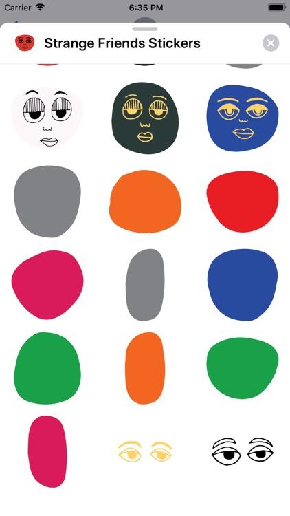 Strange Friends Stickers
