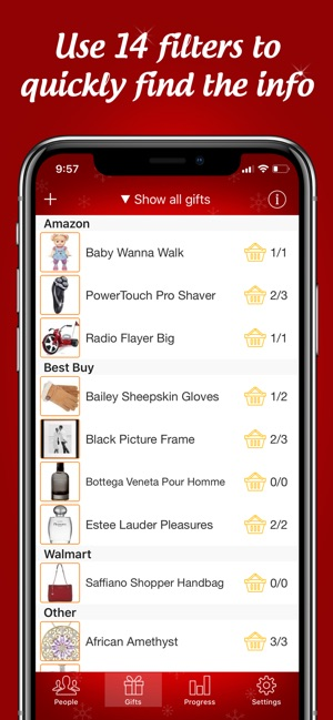 the christmas gift list on the app store