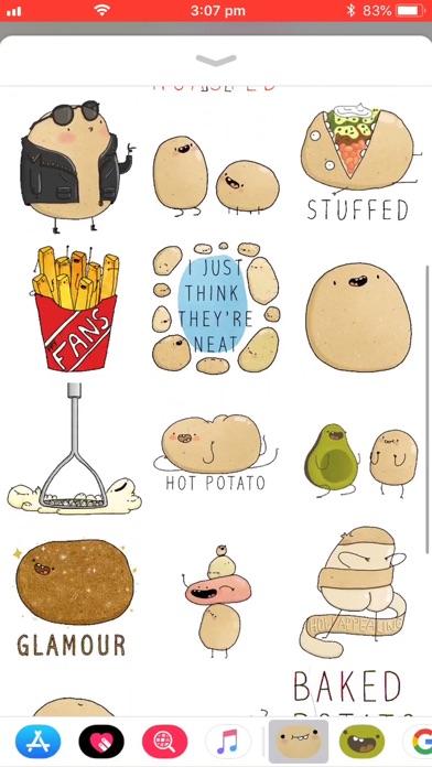Screenshot #6 for Potato Sticker Pack