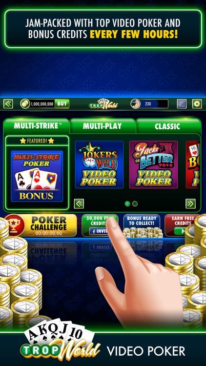TropWorld Video Poker