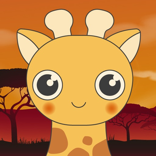 Lovely Giraffe - Several Emoji Faces