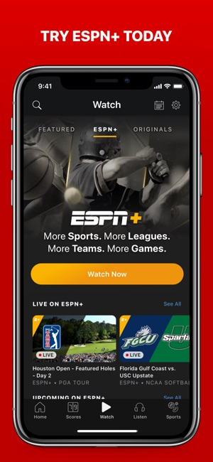 how to watch sports on iphone