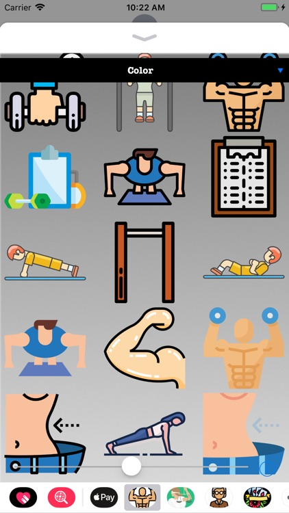 Exercise Workout HD Stickers screenshot-2