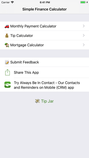 simple finance calculator on the app store