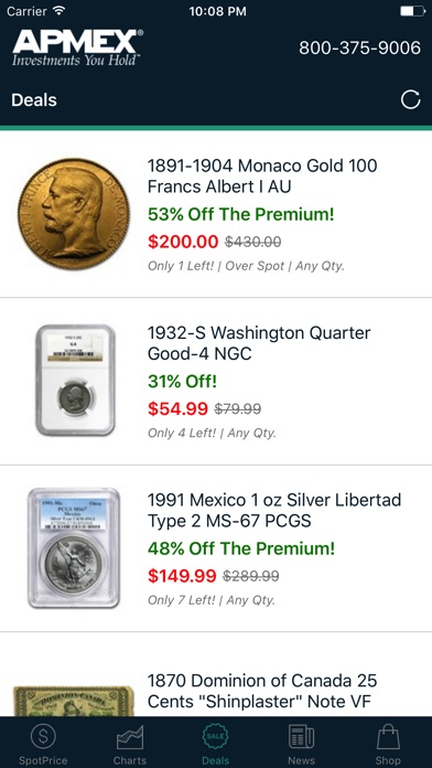 Gold Silver Spot Prices At Apmex By Ios United States Searchman Data Information