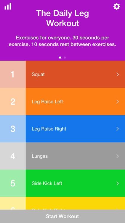 Daily Leg Workout Training