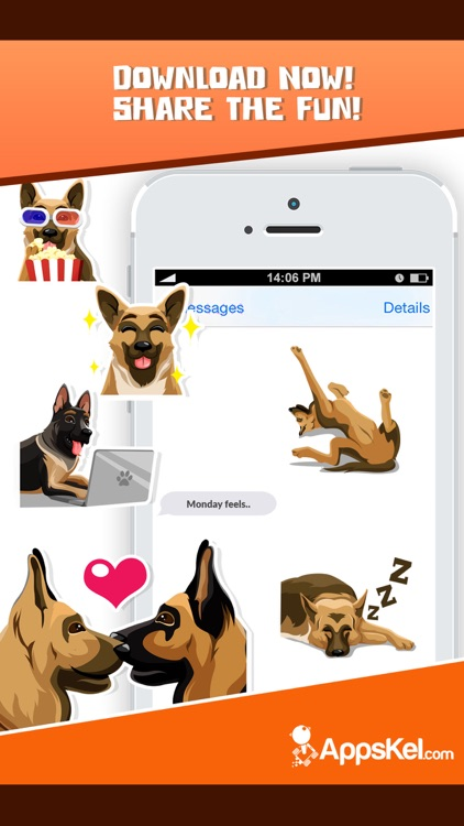 German Shepherd Emoji Sticker screenshot-4