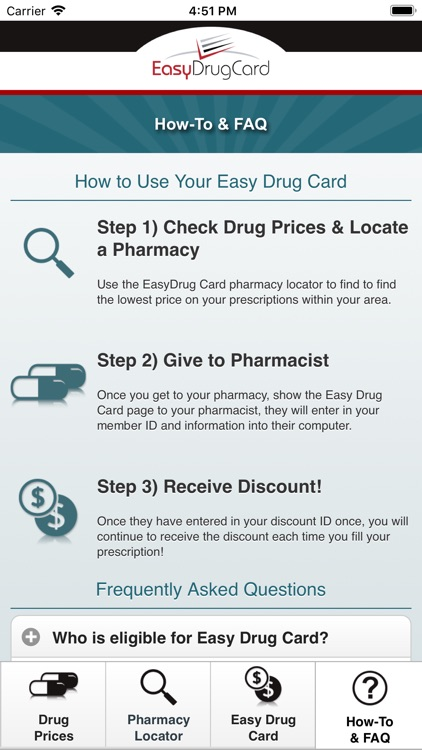 Easy Drug Card