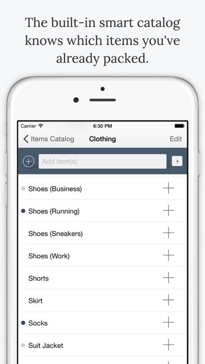 TripList - Packing List Manager screenshot-3