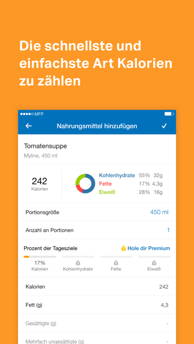Screenshot for MyFitnessPal in Germany App Store