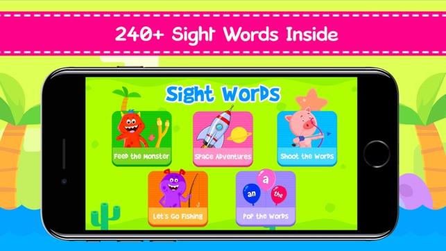 Kindergarten Sight Word Games on the App Store