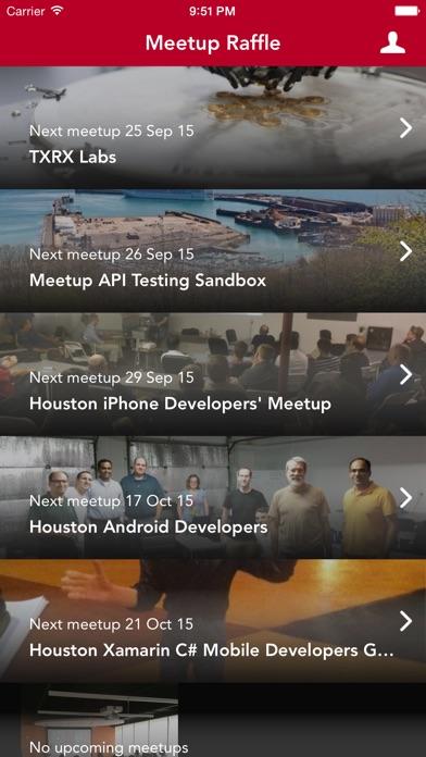 Screenshots for Raffle App for Meetup