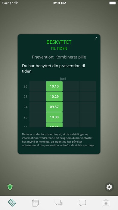 Screenshot for myPill® Prævention Påmindelse in Denmark App Store