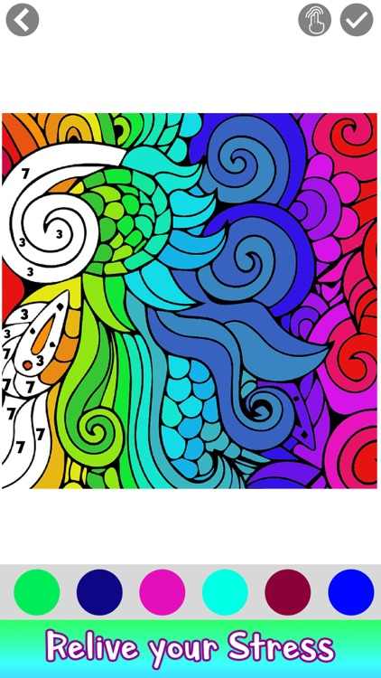 Adult Coloring by Number Book screenshot-6