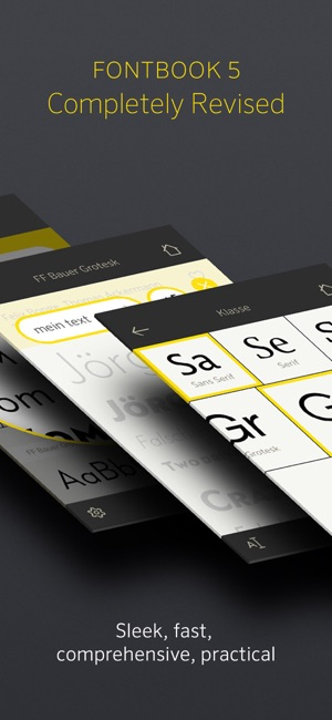 types of iphones fontbook typeface compendium on the app 7248